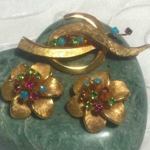 💝2/$20 Pastelli Demi Parure Vintage Crystals